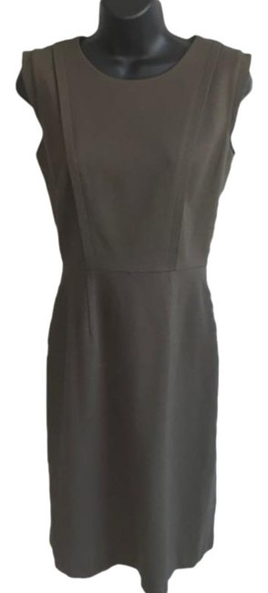 Item - Army Olive Green Fitted Mid-length Work/Office Dress Size 2 (XS)