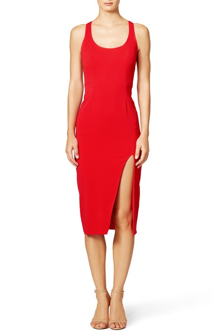Item - Red Witherspoon Sheath Mid-length Cocktail Dress Size 4 (S)