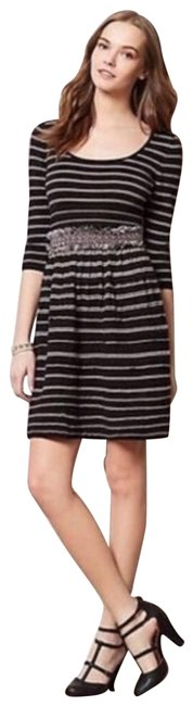 Item - Black Anthro Knitted&knotted Elodie Sweater Short Casual Dress Size 0 (XS)
