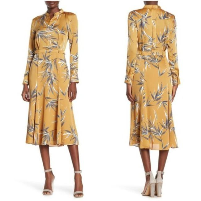 Item - Mustard Yellow Sabenne Mid-length Cocktail Dress Size 6 (S)