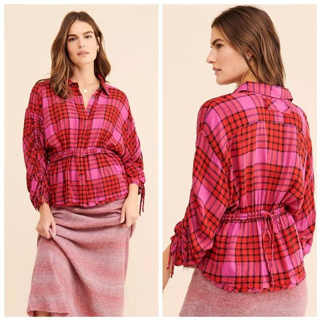 Item - Red We The | Pacific Dawn Plaid Button-down Top Size 10 (M)