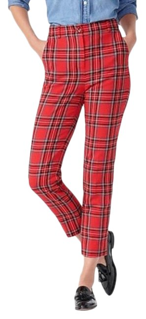 Item - Red Stewart Plaid High-rise Cameron Pants Size 6 (S, 28)