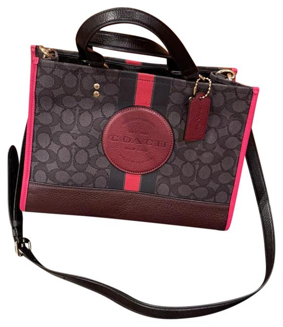 Item - Dempsey Small Black with Pink Canvas Cross Body Bag