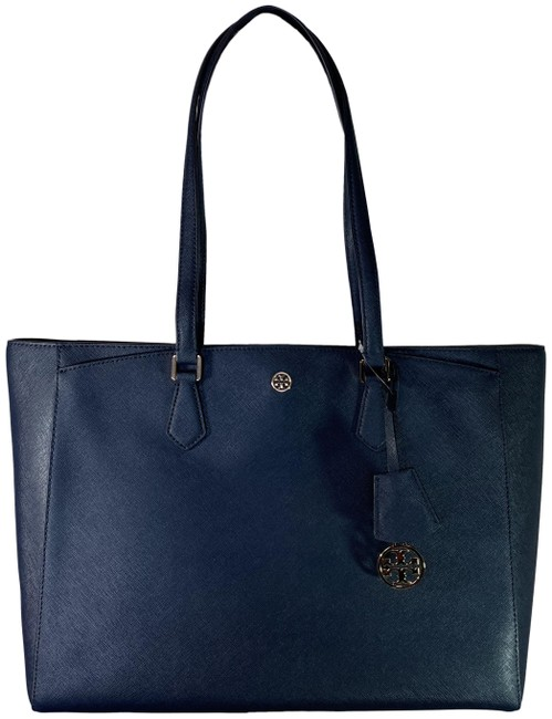 Item - Robinson Large Royal Navy Saffiano Leather Tote