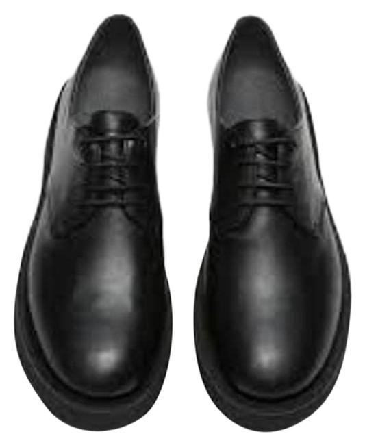 Item - Black Tyra Womens Leather Lace Up Oxfords Flats Size US 10 Regular (M, B)