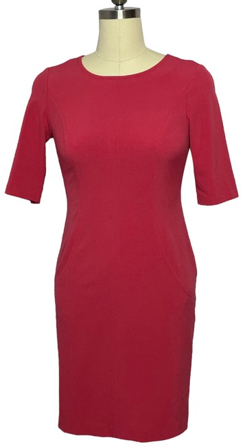 Item - Pink Body-con Sheath Mid-length Work/Office Dress Size 4 (S)