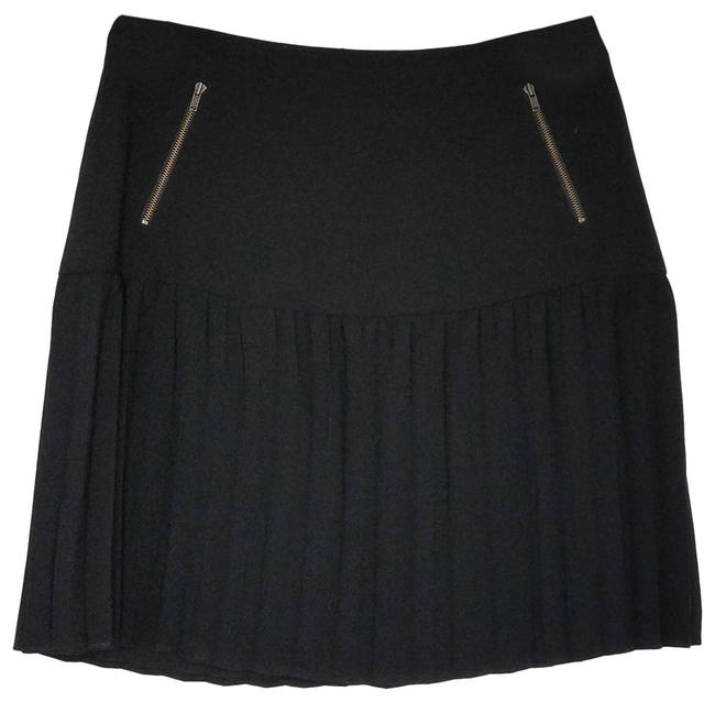 Item - Black Womens Accordian Pleat Lined Skirt Size 4 (S, 27)