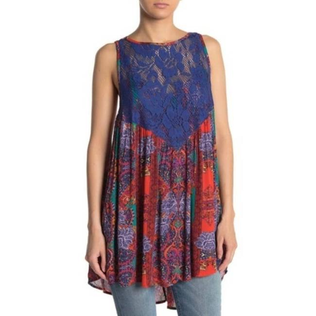 Item - Red Trapeze Paisley Short Casual Dress Size 8 (M)