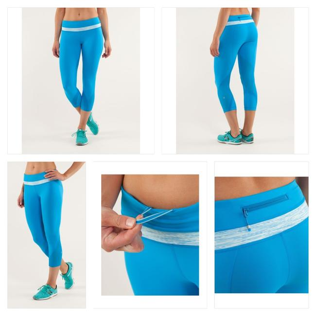 Item - Beach Blanket Blue/Wee Are From Space Aquamarine Run: Inspire Ii Activewear Bottoms Size 12 (L)