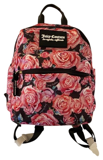 Item - Pink/Black Polyester Backpack