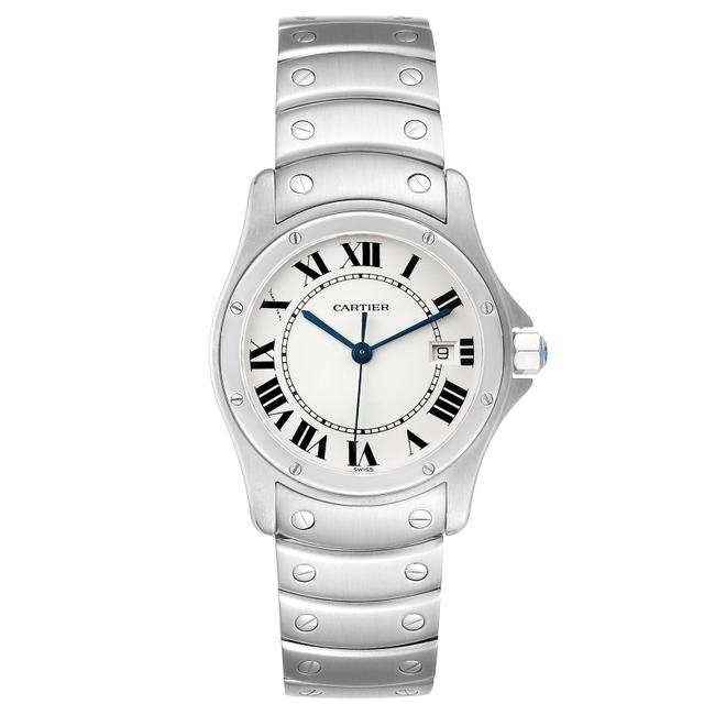 Cartier White Panthere Cougar 33mm Steel Mens W35002f5 Watch Cartier White Panthere Cougar 33mm Steel Mens W35002f5 Watch Image 2
