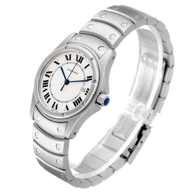 Cartier White Panthere Cougar 33mm Steel Mens W35002f5 Watch Cartier White Panthere Cougar 33mm Steel Mens W35002f5 Watch Image 4