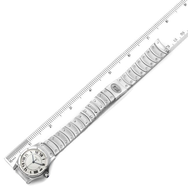 Cartier White Panthere Cougar 33mm Steel Mens W35002f5 Watch Cartier White Panthere Cougar 33mm Steel Mens W35002f5 Watch Image 6