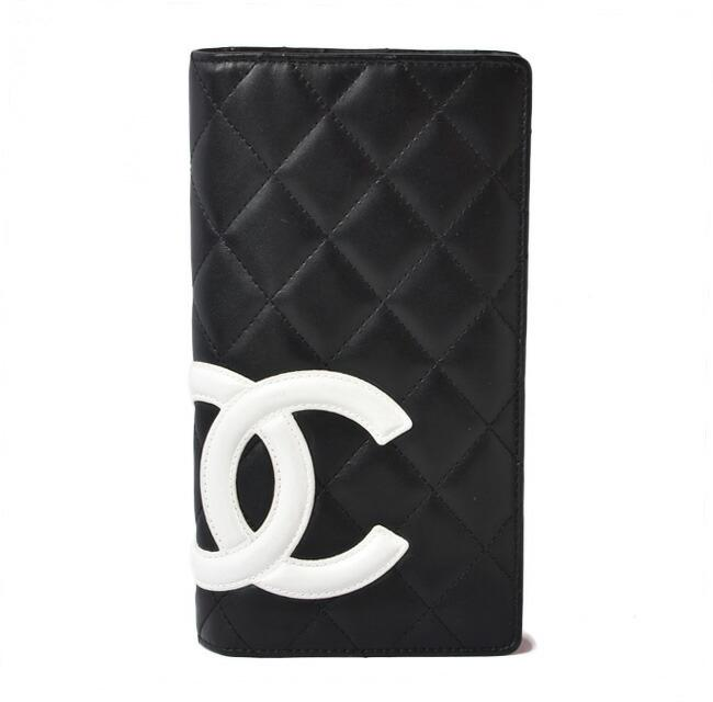 Item - Black / Pink / White Cambon Long A26717 Wallet