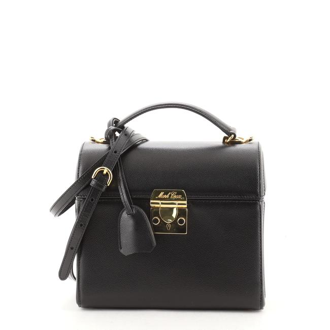 Item - Top Handle Sara Medium Black Leather Cross Body Bag