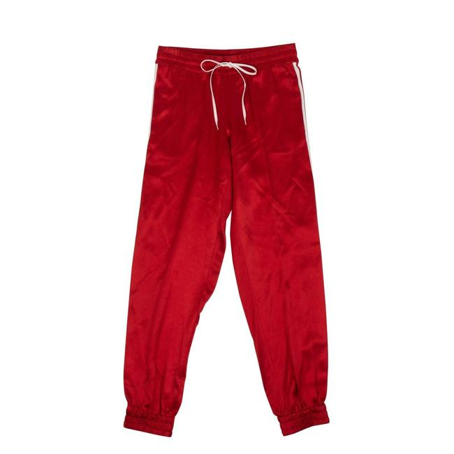 Item - Red XS Silk Track Jogger Pants Size 2 (XS, 26)