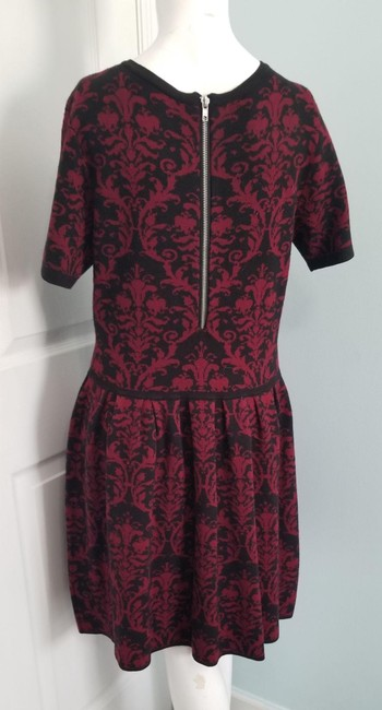 Romeo & Juliet Couture Red L Paisley Mid-length Work/Office Dress Size 14 (L) Romeo & Juliet Couture Red L Paisley Mid-length Work/Office Dress Size 14 (L) Image 2