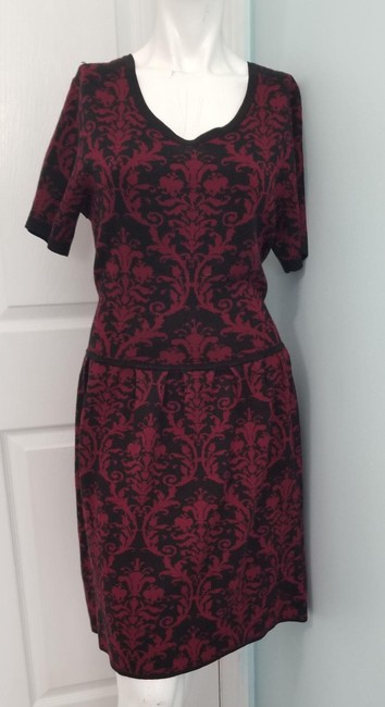 Romeo & Juliet Couture Red L Paisley Mid-length Work/Office Dress Size 14 (L) Romeo & Juliet Couture Red L Paisley Mid-length Work/Office Dress Size 14 (L) Image 6
