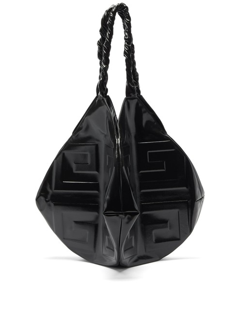 Item - Bag New 4g Balle Large Logo G Slouchy Black Leather Tote