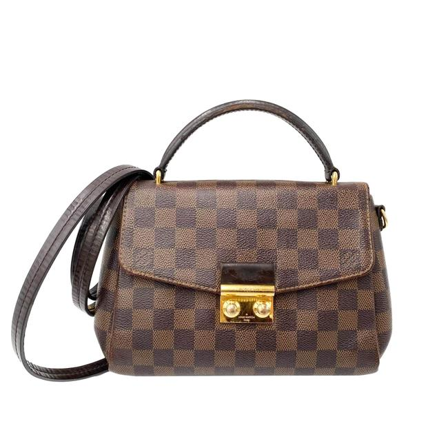 Item - Croisette Damier Ebene Brown Canvas Shoulder Bag
