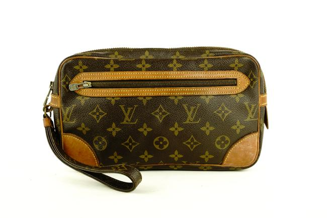 Item - Marly Dragonne Pochette Monogram 758lvs330 Brown Coated Canvas Clutch