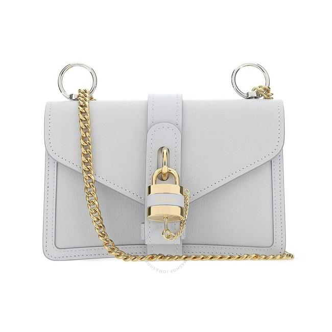 Item - Ladies Aby Chain Grey Leather Shoulder Bag