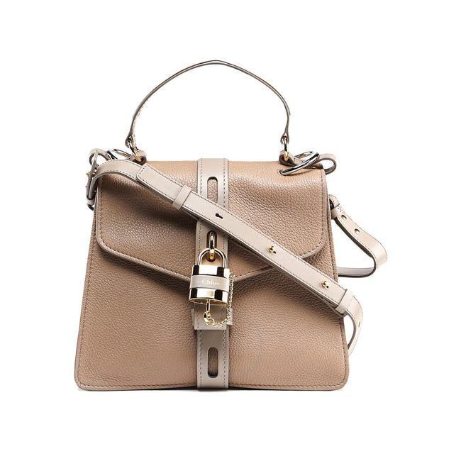 Item - Grained Deerskin and Shiny Calfskin Medium Aby Day Grey Leather Shoulder Bag
