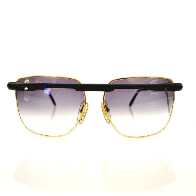 Item - Black & Gold 1980's Vintage Sunglasses