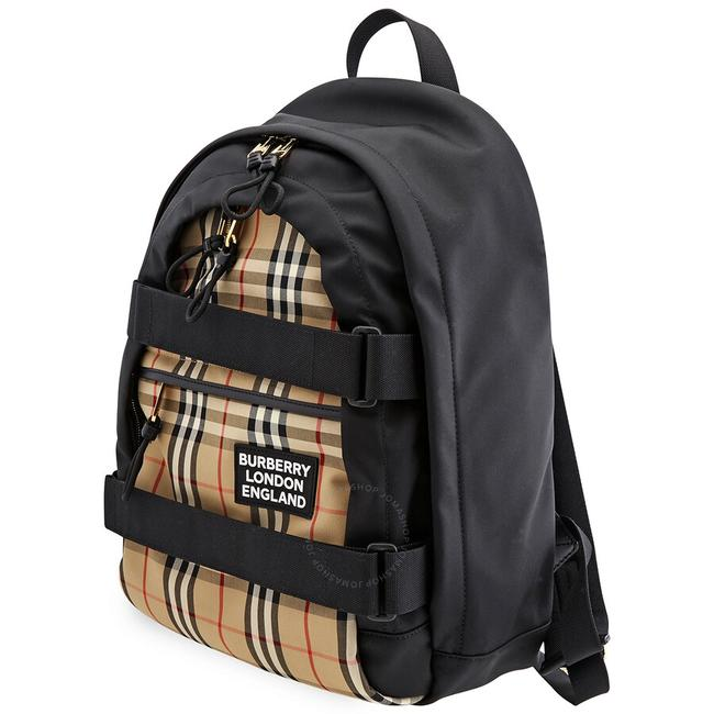 Item - Medium Vintage Check Panel Nevis Beige Polyamide Backpack