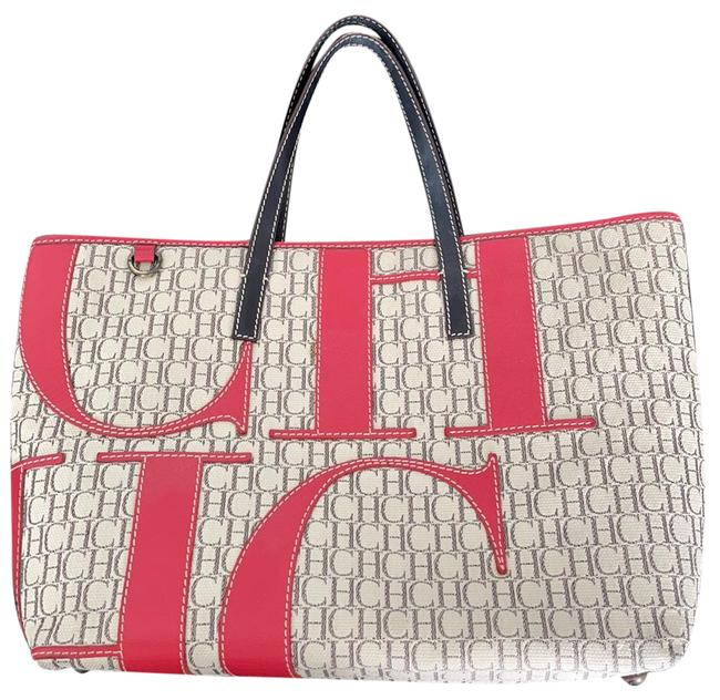 Item - Monogram Red Letters. Canvas Tote
