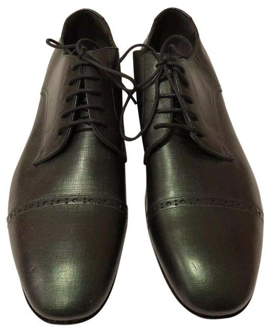 Item - Olive Green New Saffiano Leather Lace Up Oxford Dress (Men's 43eu) Formal Shoes Size EU 43 (Approx. US 13) Regular (M, B)