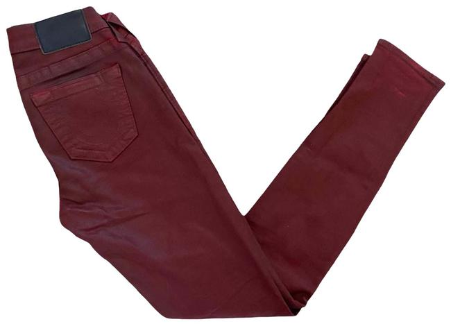 "Item - Red ""Halle"" Waxed Skinny Jeans Size 25 (2, XS)"