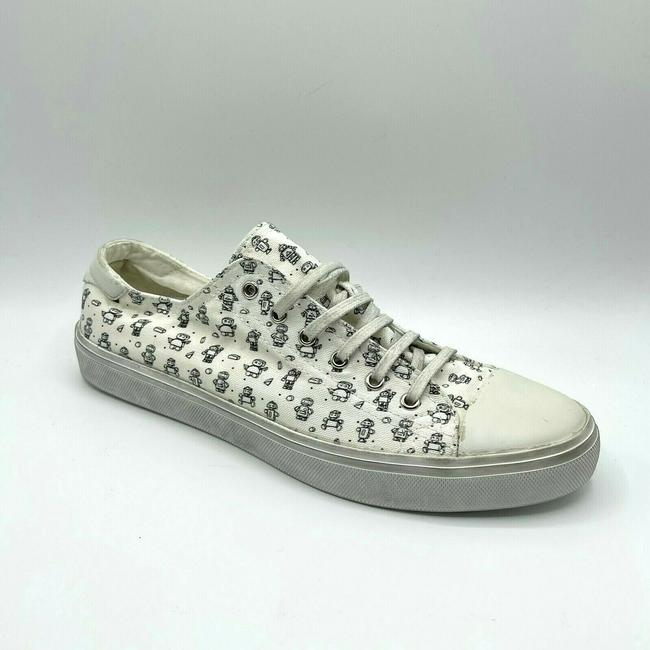Item - White Men's Dirty Washed Canvas Sneaker 43/Us 10 558306 9473 Shoes