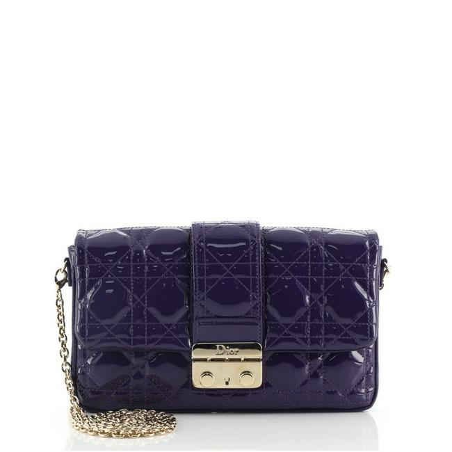 Item - New Lock Pouch Cannage Quilt Mini Purple Patent Leather Cross Body Bag