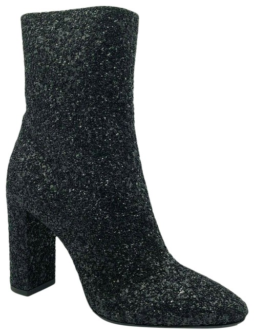 Item - Black Glitter Leather 110 Heel Ankle 36.5/Us 539210 1249 Boots/Booties Size US 6.5 Regular (M, B)