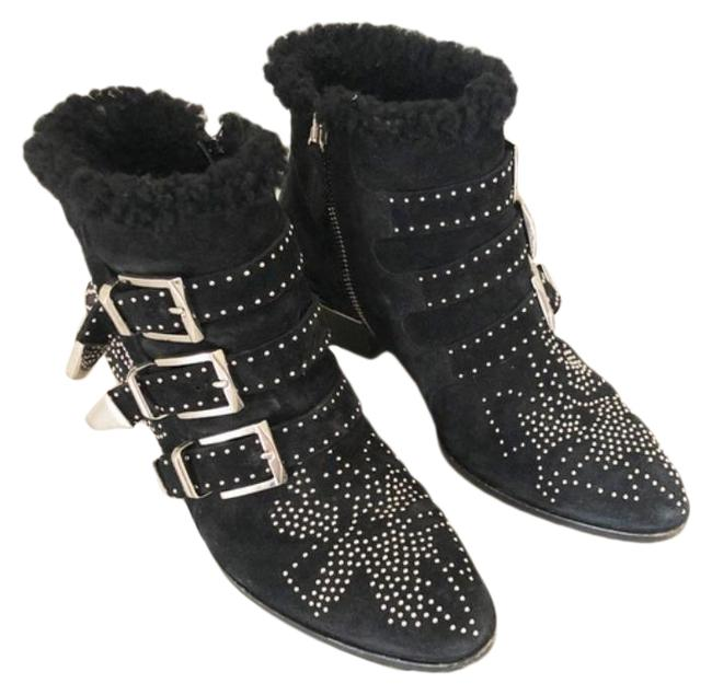 Item - Black Suzanna Shearling Studded Ankle Boots/Booties Size EU 36 (Approx. US 6) Regular (M, B)