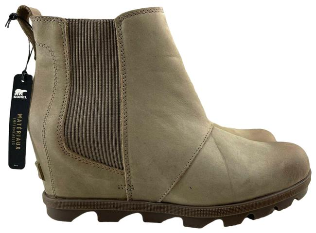 Item - Ash Brown Olive Joan Of Arctic Wedge Ii Chelsea Easy Pull Up Boots/Booties Size US 10.5 Regular (M, B)