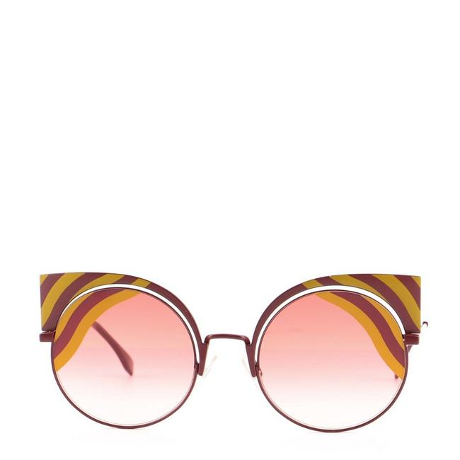 Item - Multicolor Red Hypnoshine Cat Eye Metal Sunglasses