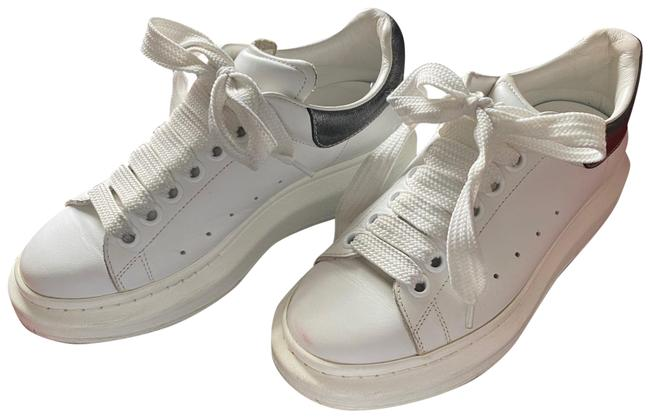 Item - White with Silver Lace Sneakers Size US 5 Regular (M, B)