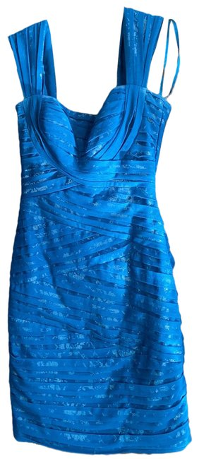 Item - Blue Ruched Bodycon Short Cocktail Dress Size 0 (XS)
