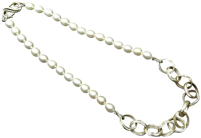 Item - White Sterling Silver Freshwater Pearls Necklace