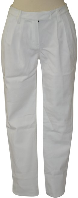 Item - White Stretch Pleated Pants Size 8 (M, 29, 30)