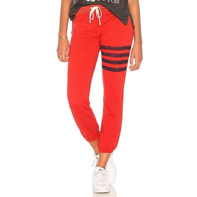 Item - Red Stripes Sweatpants In Paprika Activewear Bottoms Size 4 (S, 27)