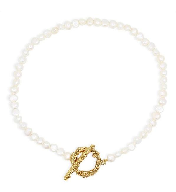 Item - Naia Pearl Gold Necklace