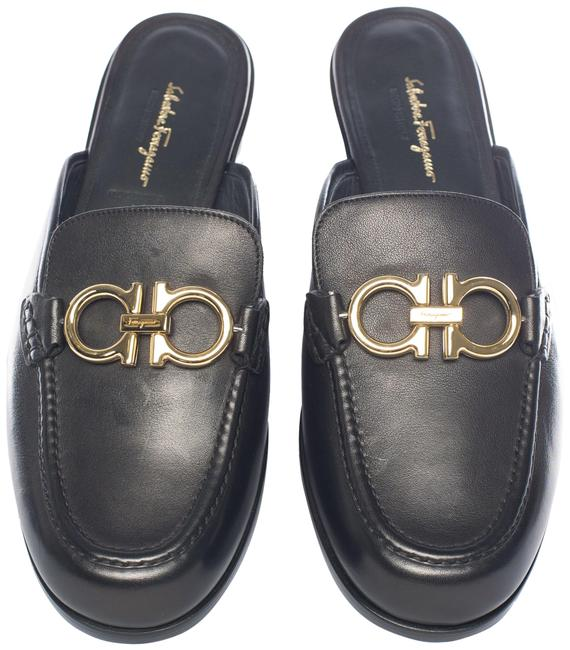 Item - Black Mules/Slides Size US 9 Regular (M, B)