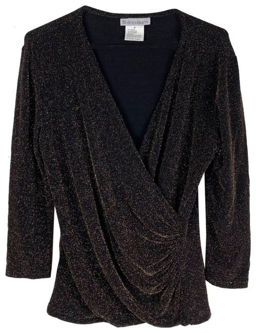 Item - Brown Sparkle Shimmer Medium Blouse Size 10 (M)
