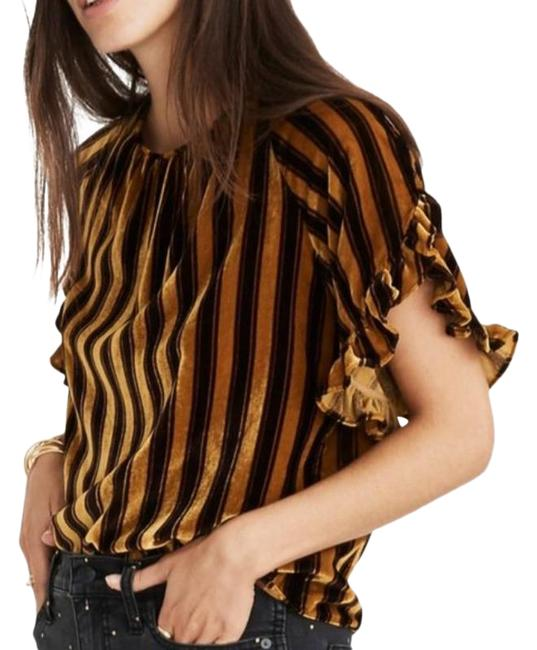 Item - Black and Gold Memento Tee Shirt Size 12 (L)