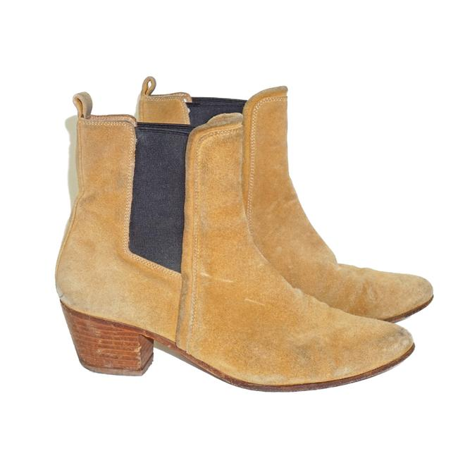 Item - Brown Camel Tan Suede Chelsea Ankle Boots/Booties Size US 8 Regular (M, B)
