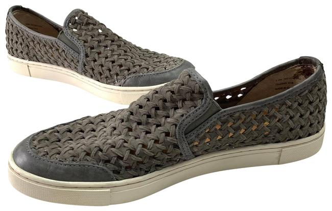 Item - Gray Gemma Woven Suede Slip On Taupe Leather Casual Loafer Flats Size US 8.5 Regular (M, B)