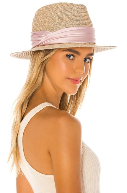 Item - Pink Courtney Fedora with Feathers Hat